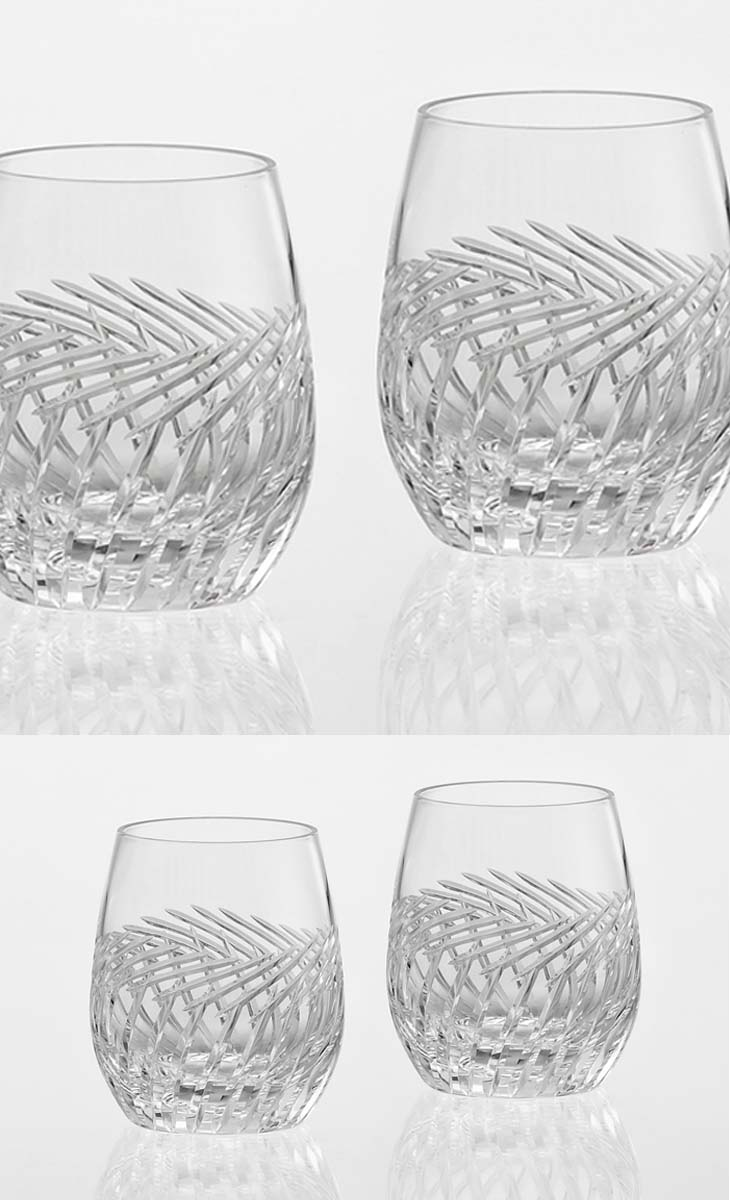 【送料無料】(・)カガミクリスタル「ペアロックグラス<麦畑>」(TPS741-2807)(木箱入)口径65mmx高さ92mm(250cc)各務クリスタル【江戸切子 ロックグラス】江戸切子 ロック グラス【ウィスキー グラス】ウィスキー グラス