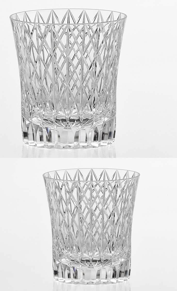 (・)カガミクリスタル「ロックグラス」(品番 - T742-2809)(木箱入)口径84mmx高さ90mm(250cc)各務クリスタル【江戸切子 ロックグラス】江戸切子 ロック グラス【ウィスキー グラス】ウィスキー グラス