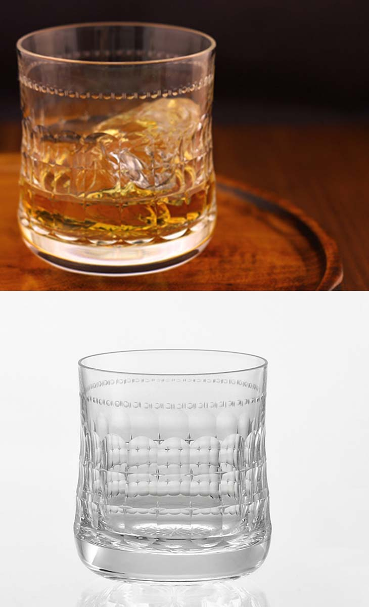 【クーポン!10%OFF!】+【送料無料】(・)カガミクリスタル「ロックグラス」(品番 - T1852-21)(木箱入)口径76mmx高さ85mm(270cc)各務クリスタル【江戸切子 ロックグラス】江戸切子 ロック グラス【ウィスキー グラス】ウィスキー グラス