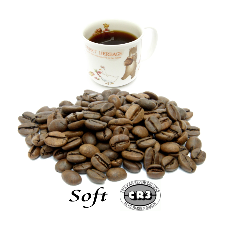 ほろ苦さとほのかな酸味のハーモニー 99.9%カフェインフリー オーダーメイド デカフェ トラスト ソフトブレンド 100g 使い勝手の良い ディカフェ カフェインレスコーヒー