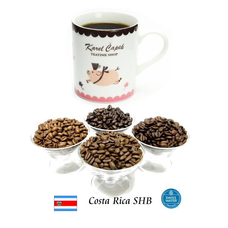 花のような香りと上品な酸味が魅力 新豆 99.9%カフェインフリー オーダーメイド デカフェ コスタリカSHB コスタリカ ディカフェ カフェインレスコーヒー 100g 無料サンプルOK 激安 激安特価 送料無料 EP