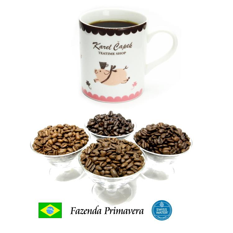 スイスウォータープロセスによる指定農園産スペシャルティコーヒー 新豆 99.9%カフェインフリー オーダーメイド デカフェ ブラジル ファゼンダ 100g スペシャルティコーヒー 情熱セール プリマヴェーラ カフェインレスコーヒー スイスウォータープロセス スーパーSALE セール期間限定 ディカフェ