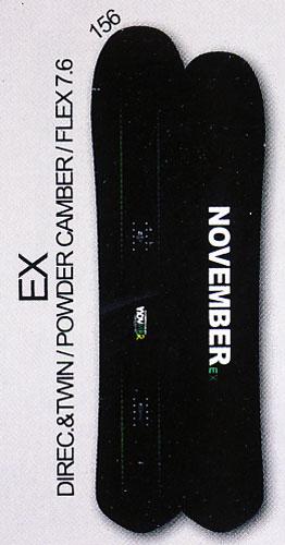 送料無料<一部地域・沖縄・離島を除く> 15-16モデル NOVEMBER【ノベンバー】 FREESTYLE スノーボード EX 156