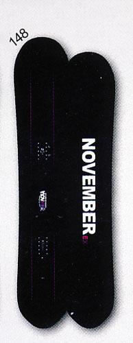 送料無料<一部地域・沖縄・離島を除く> 15-16モデル NOVEMBER【ノベンバー】 FREESTYLE スノーボード EX 148