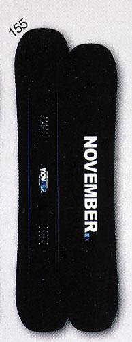 送料無料<一部地域・沖縄・離島を除く> 15-16モデル NOVEMBER【ノベンバー】 FREESTYLE スノーボード EX TWIN 155