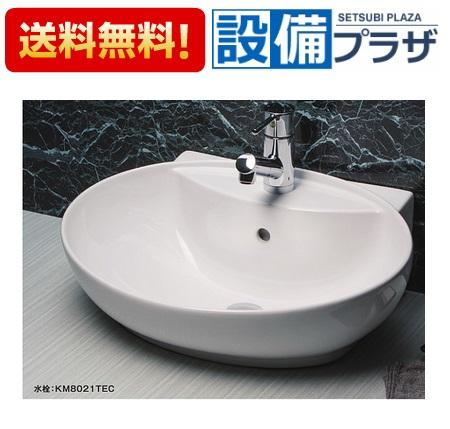 【全品送料無料!】★[KV880KVC]KVK 洗面器 陶器 ポップアップ用穴なし カラー:ピュアホワイト