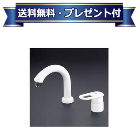 【全品送料無料!】【プレゼント付き】[LFB244WU19]KVK 栓金具  シングルレバー式洗髪シャワー(寒冷地仕様) ケーブイケー
