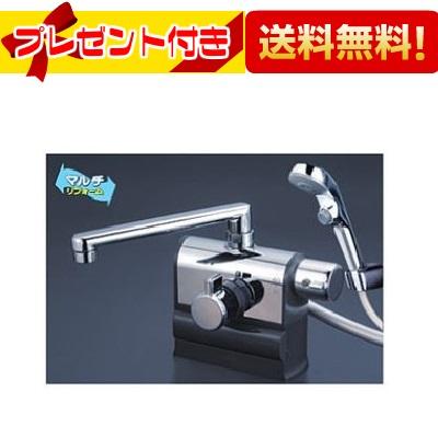 【全品送料無料!】[KF3008RS2]KVK デッキ形サーモスタット式シャワー 右ハンドル仕様 (190mmパイプ付)