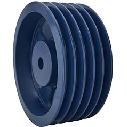 500D5 NBK 鍋屋バイテック JIS Vプーリー D型 5本掛 プーリー 下穴品 加工なし D・DXベルト適用