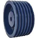 400D6 NBK 鍋屋バイテック JIS Vプーリー D型 6本掛 プーリー 下穴品 加工なし D・DXベルト適用