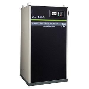 日立 オイルフリー コンプレッサー スクロール アモルファスモータ SRL-A15DV 無給油式 三相200V 15kW 50・60Hz共用