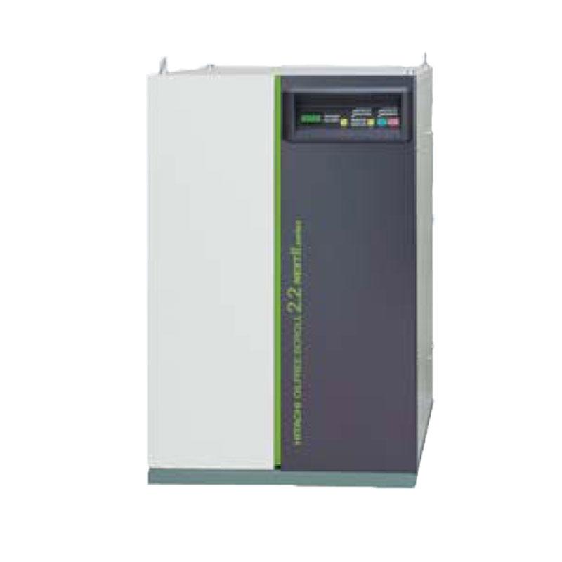 日立 オイルフリー スクロール コンプレッサーSRL-2.2MN6 (60Hz用)無給油式 圧力開閉器式 ドライヤー無し 三相200V/2.2kW