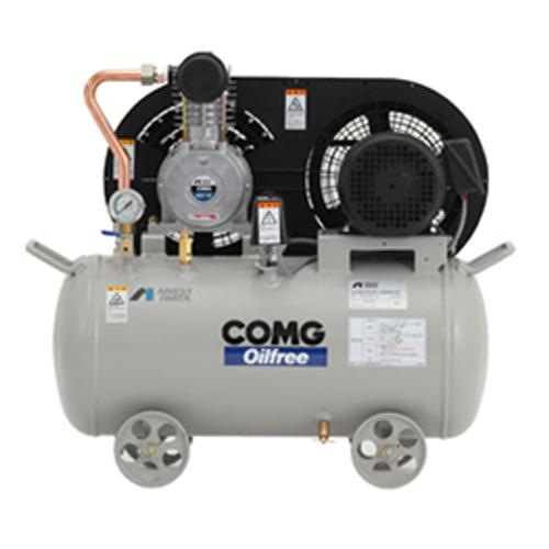 アネスト岩田 オイルフリー コンプレッサー タンクマウントTFPC07BF-10-M6 (60Hz用)無給油式 圧力開閉器式 ドライヤー無し 三相200V/0.75kW