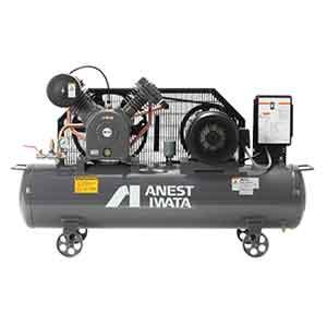 アネスト岩田 コンプレッサー タンクマウントTLP22EG-14-M5 (50Hz用)中圧 給油式 圧力開閉器式 ドライヤー無し 三相200V/2.2kW