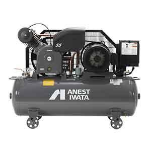 アネスト岩田 コンプレッサー タンクマウントTLP55EG-10-M6 (60Hz用)給油式 圧力開閉器式 ドライヤー無し 三相200V/5.5kW