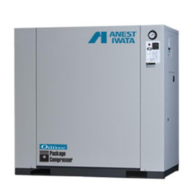アネスト岩田 オイルフリー コンプレッサー パッケージCFP22CF-8.5-M6 (60Hz用)無給油式 圧力開閉器式 ドライヤー無し 三相200V/2.2kW