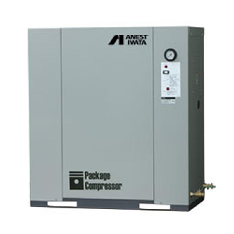 アネスト岩田 パッケージ コンプレッサーCLP37EF-8.5-M6 (60Hz用)給油式 圧力開閉器式 ドライヤー無し 三相200V/3.7kW