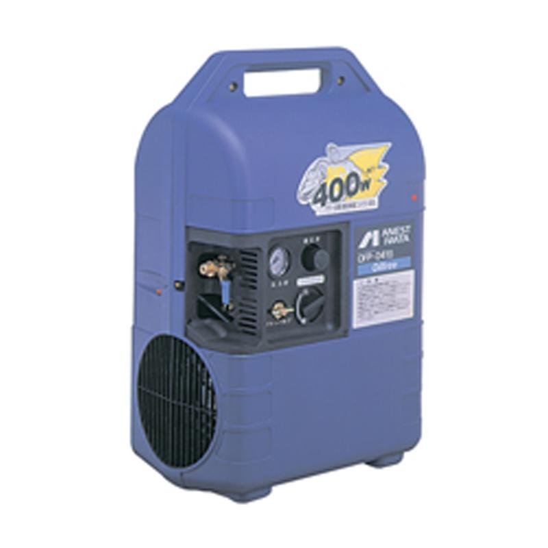 アネスト岩田 オイルフリー コンプレッサー ハンディタイプOFP-041C-C5 (50Hz用)無給油式 圧力開閉器式 ドライヤー無し 単相100V/0.4kW