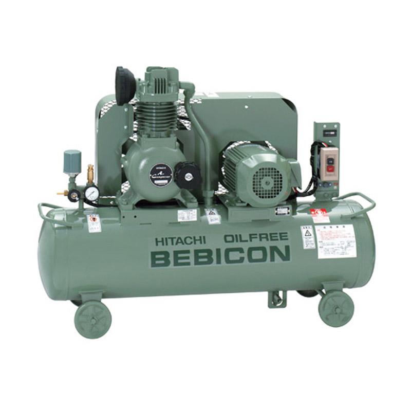 日立 オイルフリー コンプレッサー タンクマウント ベビコン2.2OU-9.5GP6 (60Hz用)無給油式 自動アンローダー式 三相200V/2.2kW