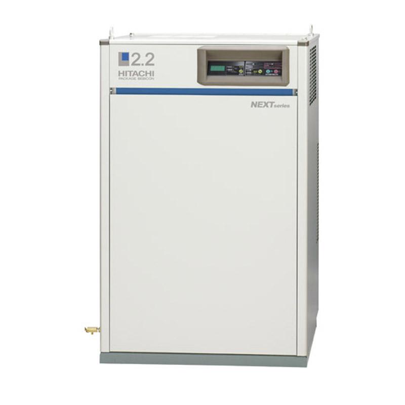 日立 コンプレッサー パッケージ ベビコンPB-3.7MNP5 (50Hz用)給油式 ECO/PUSC方式切替 ドライヤー無し 三相200V/3.7kW