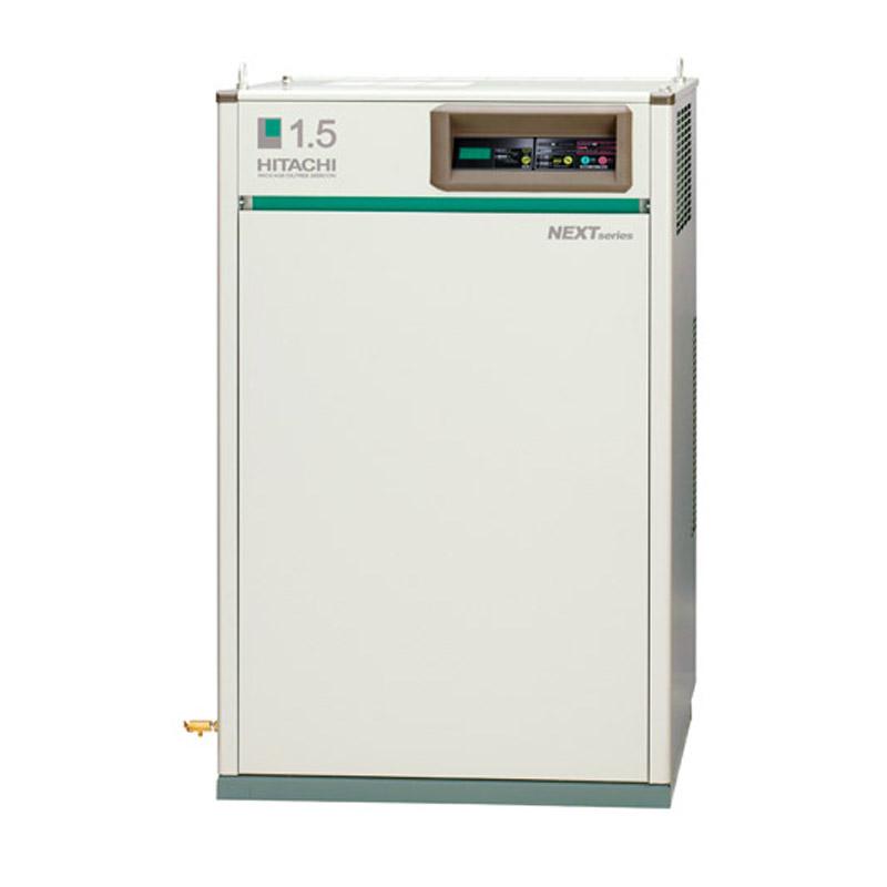 日立 オイルフリー コンプレッサー パッケージ ベビコンPOD-0.75PP6 (60Hz用)無給油式 圧力開閉器式 ドライヤー付き 三相200V/0.75kW