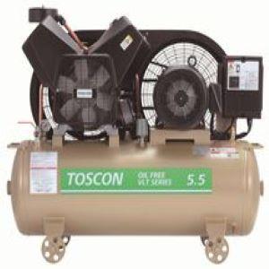 東芝 エアコンプレッサ VLT10D-4T タンクマウント無給油式低圧 三相200V 0.4kW 50/60Hz