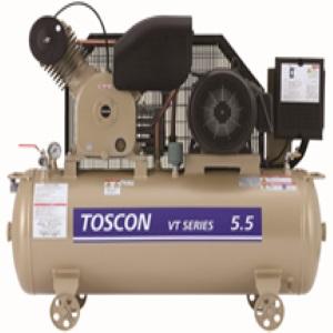 東芝 エアコンプレッサ VT145-110T タンクマウント給油式中圧 三相200V 11 kW 50Hz