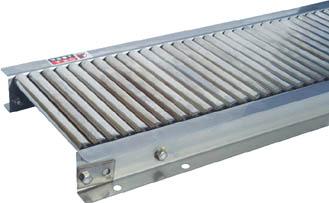 MRU1906-100215 セントラル ステンレスローラコンベヤ MRU1906型 100W×20P(別途送料必要)