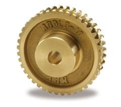 小原歯車工業 KHK AGDL3.5-40R1 歯車 歯研ウォームホイール AGDL型・複リードタイプ モジュール3.5