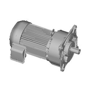 三菱電機 (ミツビシ) ギヤードモータ GM-SPF-0.75KW-1/120 三相 200V 0.75KW 減速比1/120 フランジ取付 ブレーキ無し 平行軸 GM-SPシリーズ