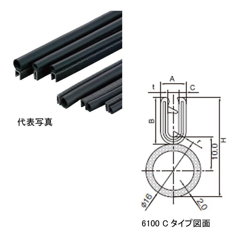 S6100-B-3X16CT 岩田製作所 トリムシール 対応板厚1.2-2.4mm 75M巻