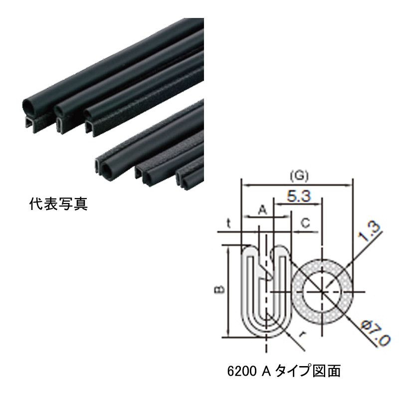 S6200-B-3X16A-75M 岩田製作所 トリムシール 対応板厚1.2-1.6mm 75M巻