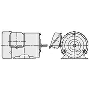 日立(ヒタチ) 三相モータ TFO-FK-0.4kW-6P-AC200V 全閉外扇 屋内仕様 脚取付 ブレーキ無し ザ・モートルNeo100