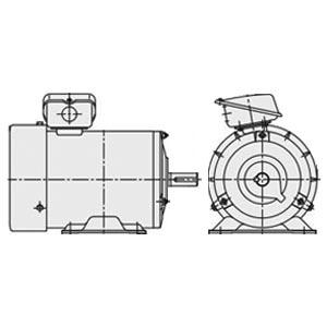 日立(ヒタチ) 三相モータ TFO-LK-0.75kW-4P-TMU-AC400V全閉外扇 屋内仕様 脚取付 ブレーキ無し 端子箱(上)ザ・モートルNeo100 Premium