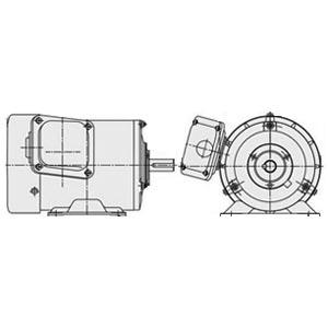 (在庫あり) 日立(ヒタチ) 三相モータ TFOA-LK-0.75kW-4P-AC200V全閉外扇 屋外仕様 脚取付 ブレーキ無し ザ・モートルNeo100 Premium