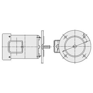 日立(ヒタチ) 三相モータ VTFO-LK-0.75kW-2P-AC200V全閉外扇 屋内仕様 立形フランジ取付 ブレーキ無し ザ・モートルNeo100 Premium