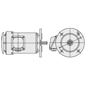 日立(ヒタチ) 三相モータ VTFOA-LK-0.75kW-4P-AC400V全閉外扇 屋外仕様 立形フランジ取付 ブレーキ無し ザ・モートルNeo100 Premium