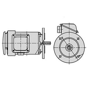 日立(ヒタチ) 三相モータ VTFOX-K-0.75kW-4P-AC200V全閉外扇 屋内仕様 安増防爆 立形フランジ取付 ブレーキ無し ザ・モートルNeo100