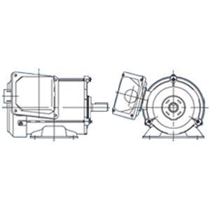 三菱電機(ミツビシ)三相モータ SF-PRO-0.75kW-6P AC200V全閉外扇 屋外仕様 脚取付 ブレーキ無し