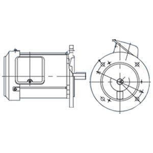 三菱電機(ミツビシ)三相モータ SF-PRV-0.75kW-6P AC200V全閉外扇 屋内仕様 立形 ブレーキ無し
