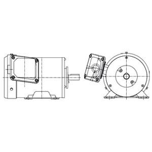 東芝 三相モータ IKH3-FBKKW21E-0.75KW-4P-AC400V全閉外扇 屋外仕様 脚取付 ブレーキ無し プレミアムゴールドモートル