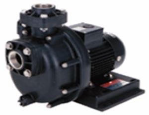 三相電機 自吸式ヒューガルポンプ 40PSPZ-4031B 樹脂製・海水用 口径40A(1 1/2B) 出力400W(60Hz) 単相100V PSPZ型 屋外