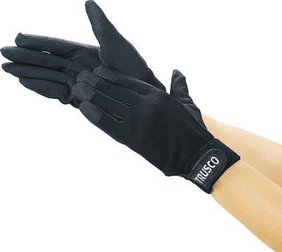 11 000円 在庫処分 割引 税込 以上で送料無料 沖縄 離島を除く S ブラック PU厚手手袋エンボス加工 TRUSCO TPUG-B-S