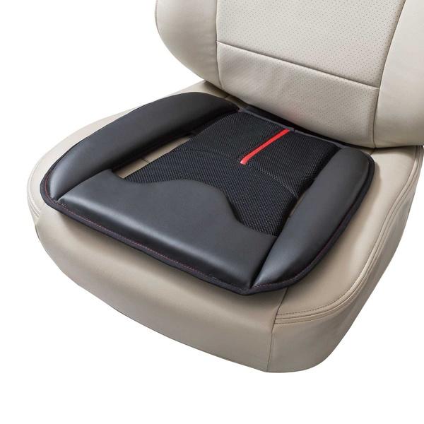 (訳ありセール 格安) BONFORM ボンフォーム5746-43REシートクッション ウイングレザー ヒップ型 レッド 45x45cm ストッパー付 最安値挑戦