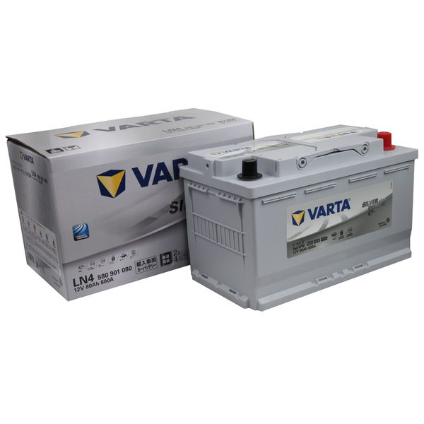 VARTA バルタ580 901 080(LN4AGM) 欧州車用 シルバーダイナミックAGM地域限定(本州・四国・九州)送料無料