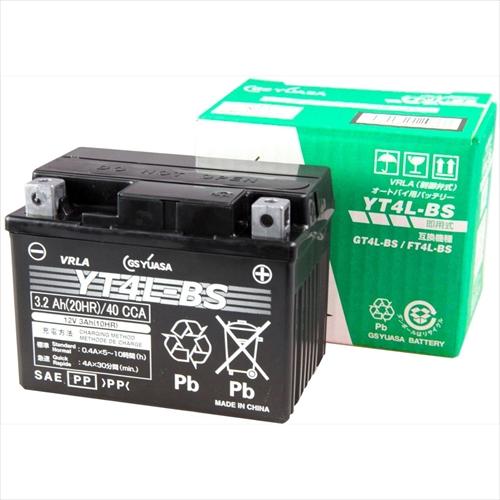 GSYUASA GSユアサ 正規品 バイク用バッテリー 電解液注入 充電済 NBC4L-BS TX4L-N YT4L-BS主な互換品番:GT4L-BS 訳あり RBT4L 正規品 FT4L-BS