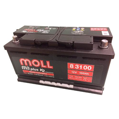 MOLL m3 plus モルバッテリー 欧州車用バッテリー ML 83100主な互換品番:60038・60044・20-100【廃バッテリー無料回収、北海道・東北・沖縄県以外、   ご希望の方、対応いたします】[配送区分:中型30kg]