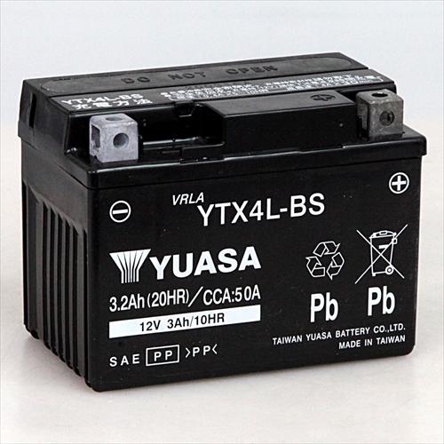台湾YUASA 台湾ユアサバイク用バッテリー 電解液注入 充電済 DTX4L-BS RBTX4L-N 新作 特価キャンペーン 人気 YTX4L-BS主な互換品番:FTX4L-BS
