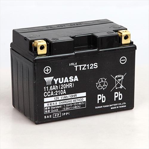 台湾YUASA 40%OFFの激安セール 台湾ユアサバイク用バッテリー 電解液注入 春の新作 充電済 RBTZ12S-N TTZ12S主な互換品番:YTZ12S DTZ12S GEL12ZS