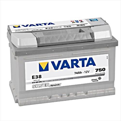 VARTA (バルタ)輸入車用バッテリーSILVER DYNAMIC VA 574402075主な互換品番:57113・83071【廃バッテリー無料回収、北海道・東北・沖縄県以外、   ご希望の方、対応いたします】[配送区分:中型30kg]